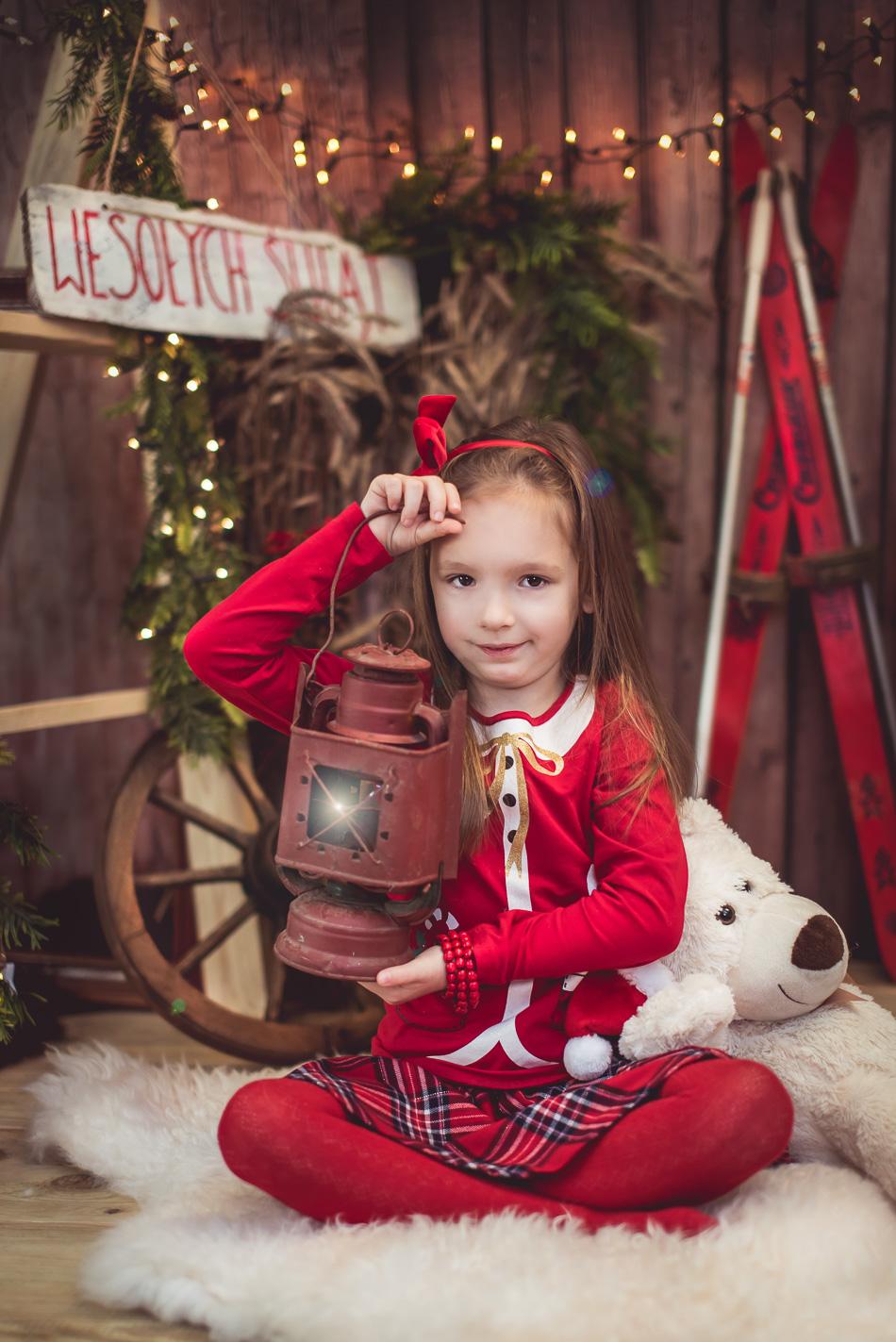latarenka sesja świąteczna w Redzie