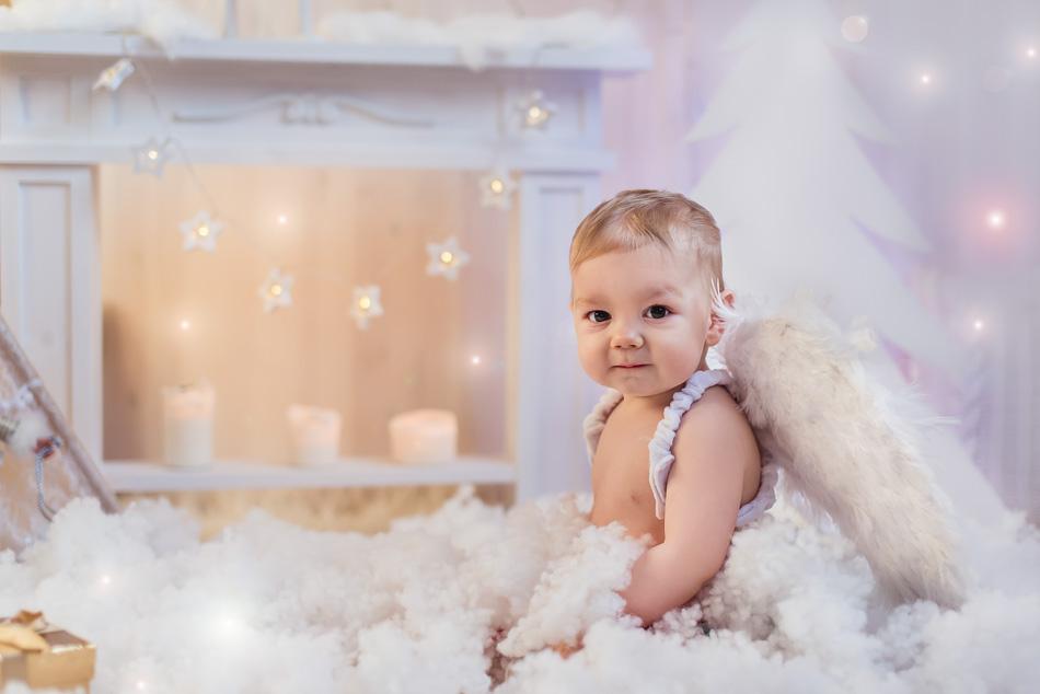 mini sesja boże narodzenie święta dziecko aniołek trójmiasto Gdańsk