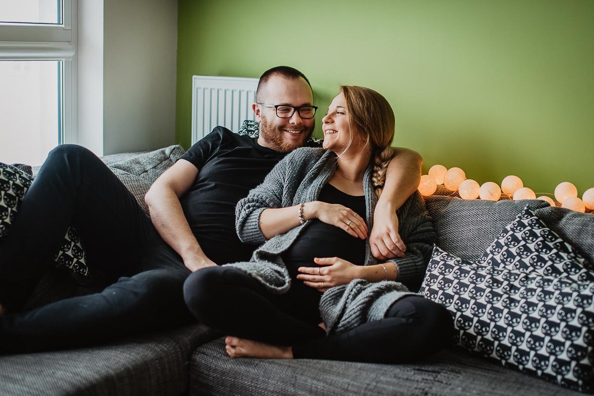 fotograf ciążowy sesja w domu Trójmiasto