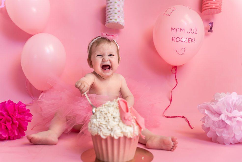 'Cake smash' – czyli sesja urodzinowa Marysi :)