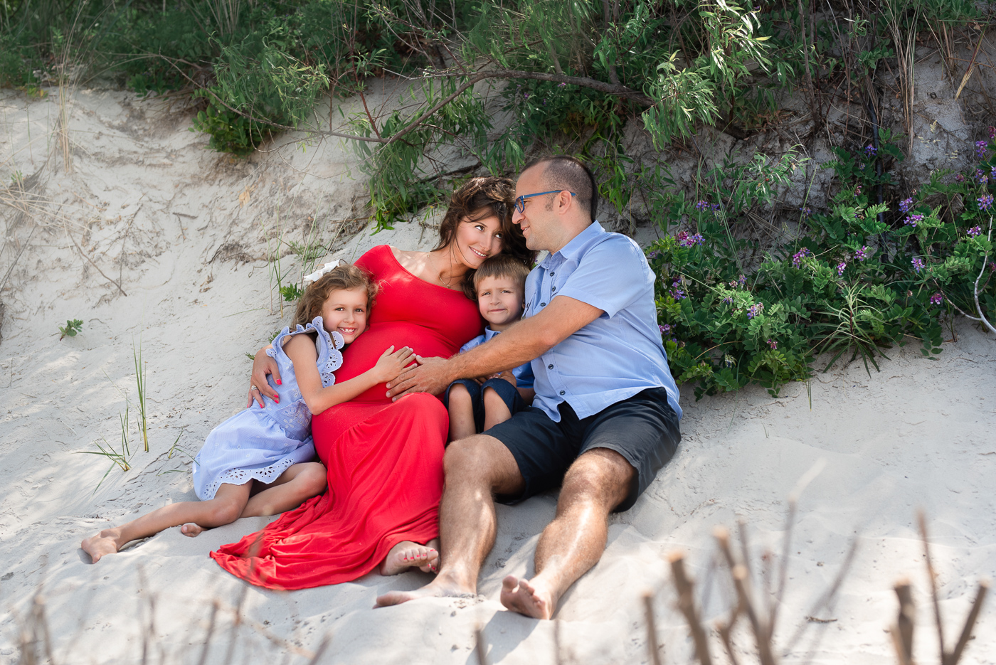 miłość rodzinna sesja na wydmach nad morzem trójmiasto