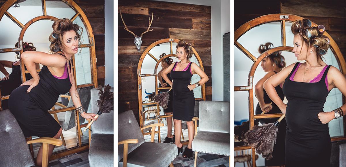 sesja z charakterem inna niż wszystkie lustro drewniane poroże fotograf Trójmiasto