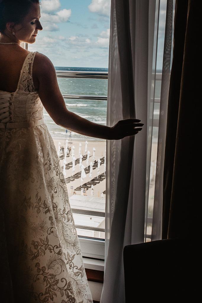widok z okna na morze hotel sheraton Sopot