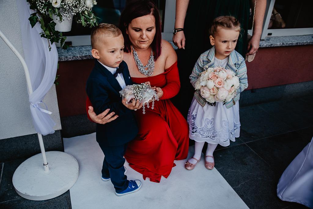 ozdoby śłubne Trójmiasto dzieci na ślubie cywolnym Sopot