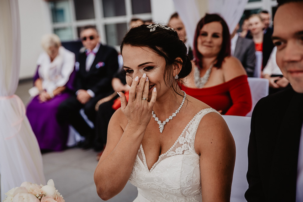 łzy wzruszenia fotograf na ślub Trójmiasto