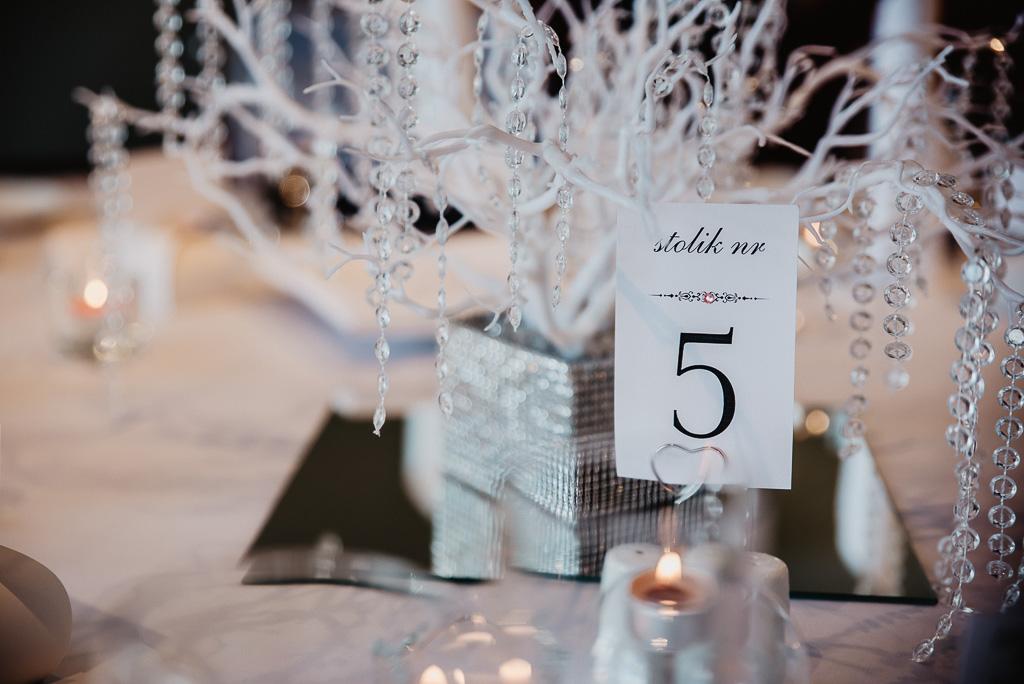 numerki na stół pary młodej wesele Trójmiasto