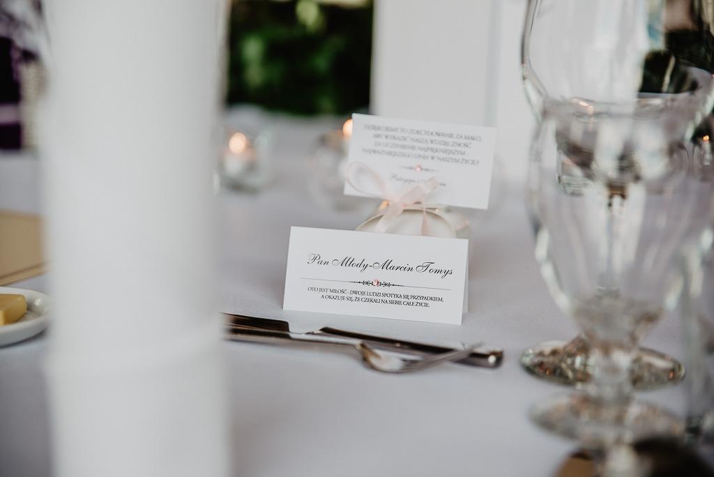 winietki na stół pary młodej wesele Trójmiasto