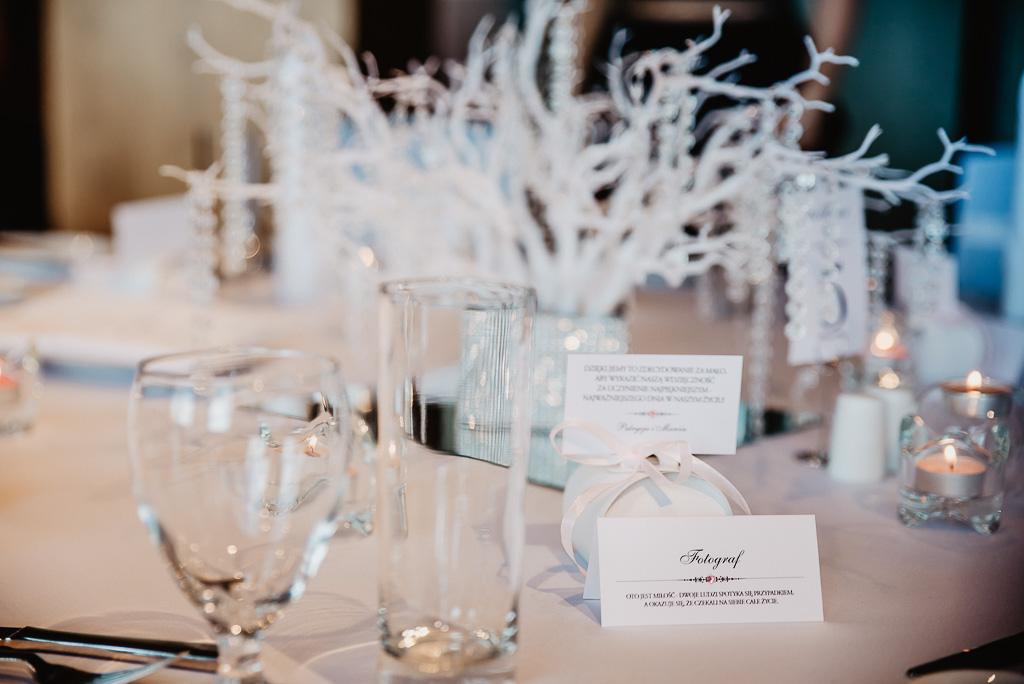ozdoby na stół pary młodej wesele Trójmiasto