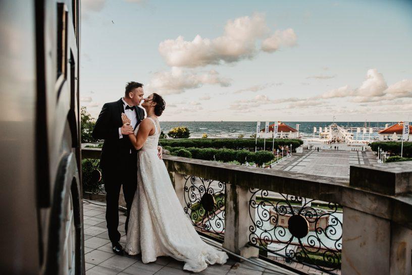Reportaż ślubny i sesja plenerowa w Sopocie_Sheraton Hotel Sopot