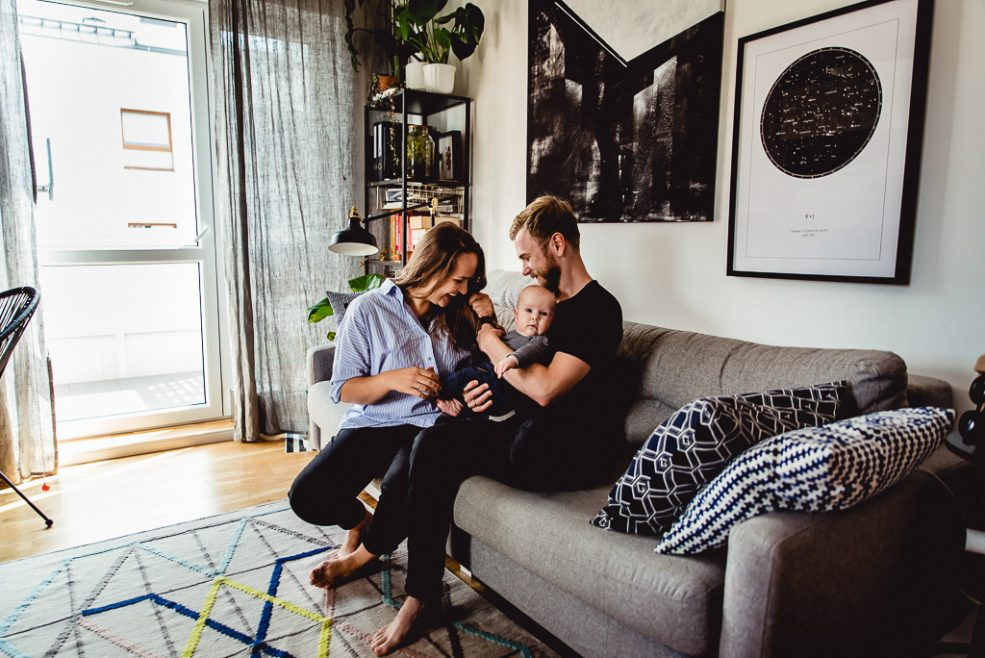 Józek i jego mały – wielki świat_sesja rodzinna w domu_Gdańsk