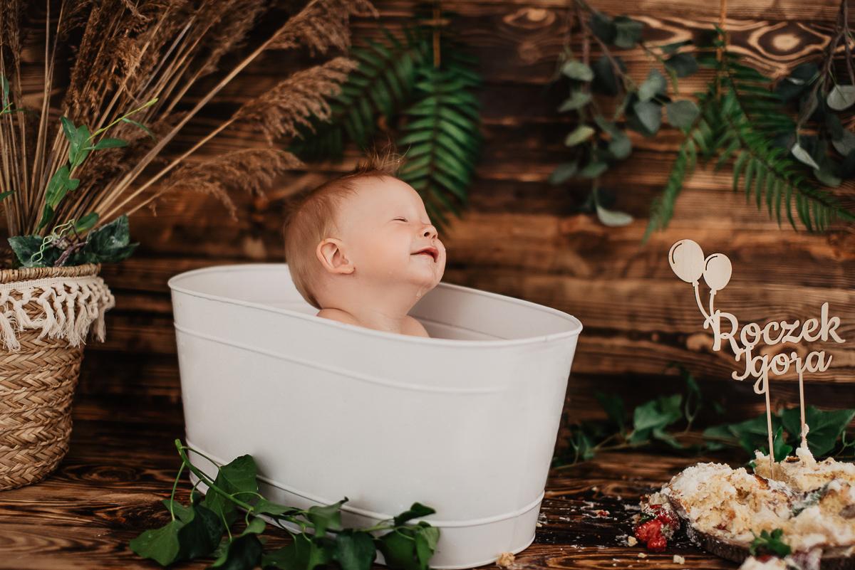 kąpiel na sesji zdjęciowej