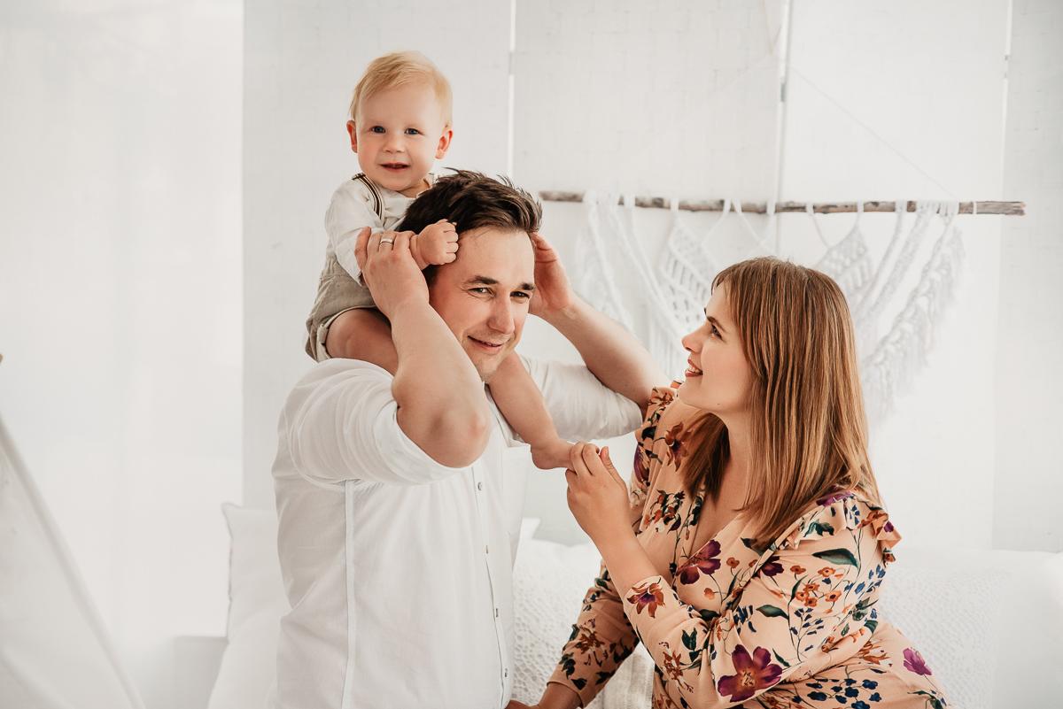 sesja dziecka z rodzicami studio Gdańsk
