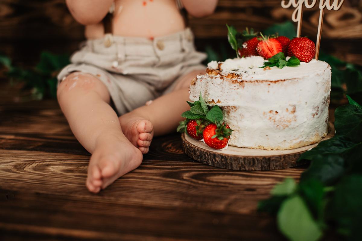 sesja z tortem dla dziecka Gdynia