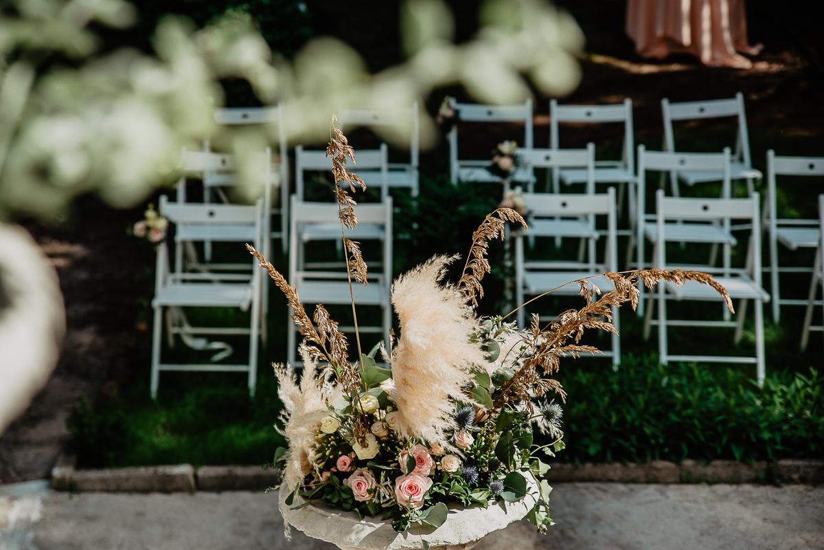 kwiaty na ślub w plenerze Gdańsk Oliwa