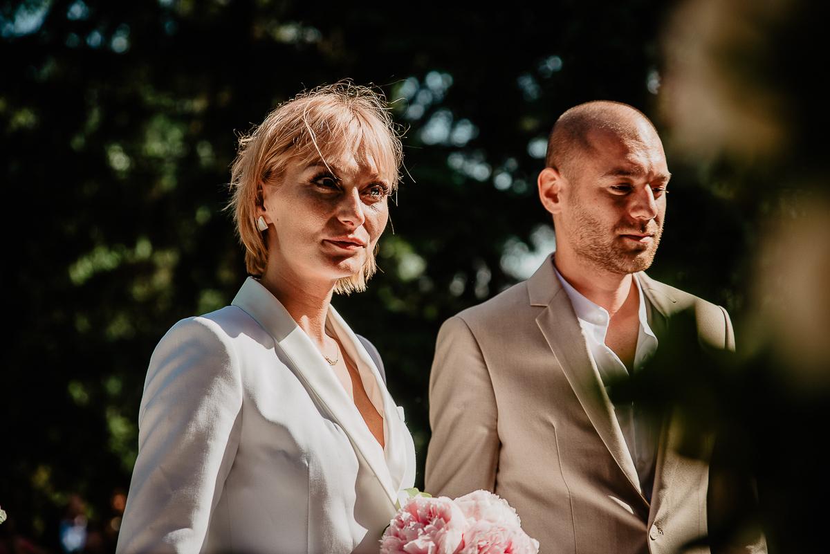 przysięga na ceremonii ślubnej w plenerze
