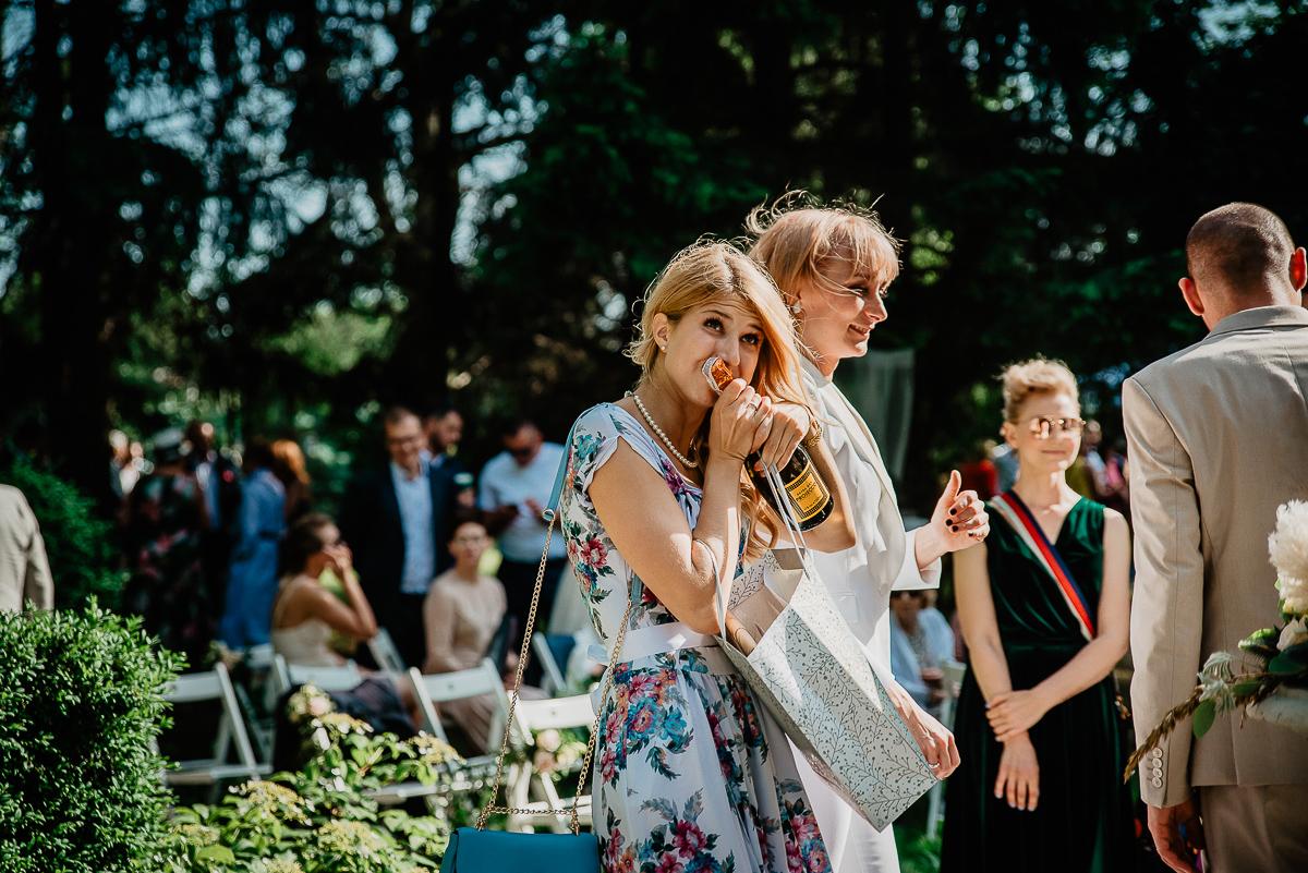 prosecco na ślub w plenerze