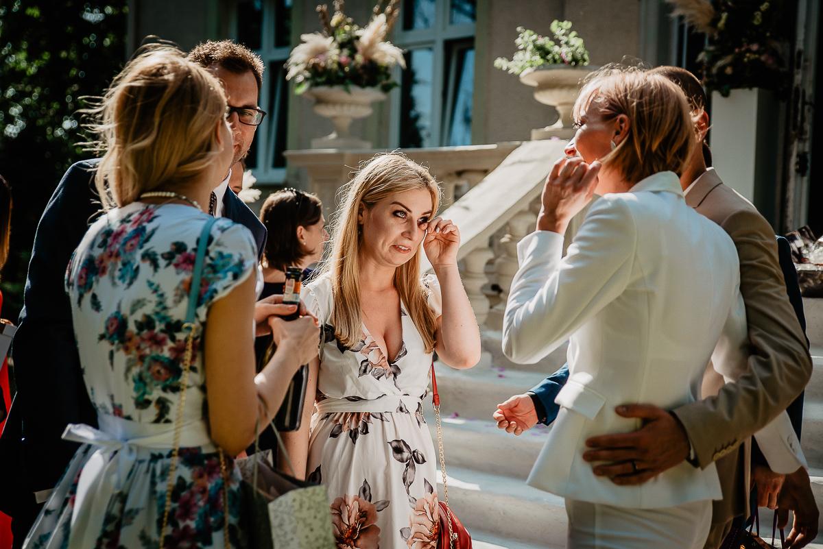 wzruszenia podczas ślubu w plenerze Gdańsk