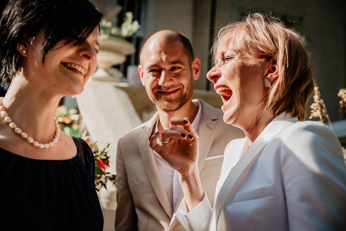 emocje podczas ślubu w plenerze Gdańsk