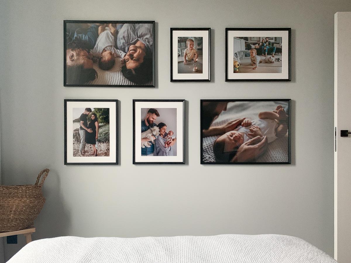 ściana ze zdjęciami galieria rodzinna