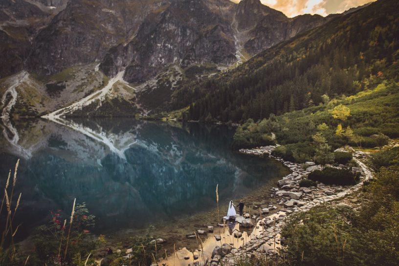 Sesja ślubna w górach, czyli jak spełnić marzenia, mieszkając nad morzem.